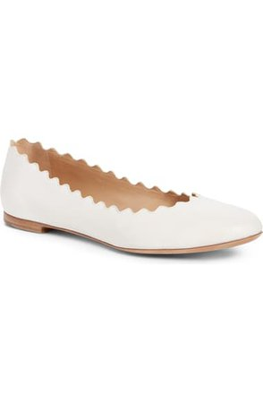 Chloé Lauren Scalloped Ballet Flat (Women) | Nordstrom
