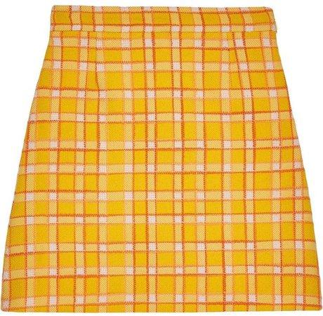 check A-line mini skirt