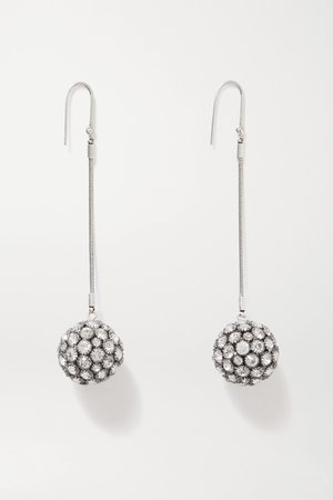 Silver Silver-tone crystal earrings | Isabel Marant | NET-A-PORTER