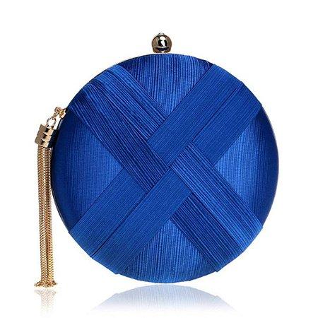 Amazon.com: Tngan Women Evening Bag Purse Clutch Round Circular Handbag Wedding Party Wallet Royal Blue: Clothing