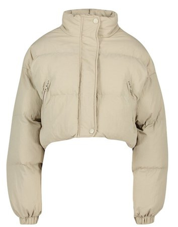 boohoo funnel neck cropped puffer