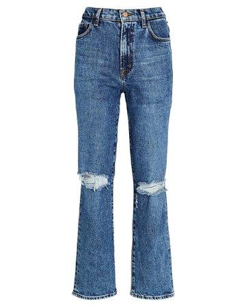 J Brand Jules High-Rise Straight-Leg Jeans | INTERMIX®