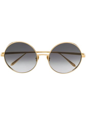 Linda Farrow Gallery circle framed sunglasses £787 - Shop Online. Same Day Delivery in London