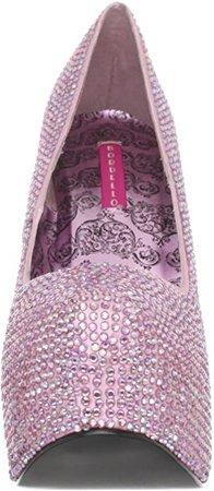 (Baby Pink Rhinestone) Pleaser Women's Teeze-06R/BPSA-IRIDRS Platform Pump | Pumps