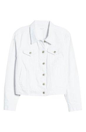STS Blue Crop Boyfriend Denim Jacket | white