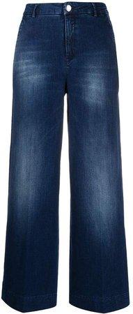 high-rise wide-leg jeans