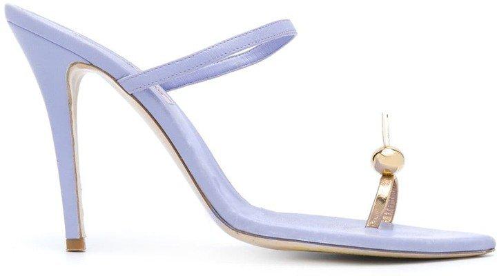Single-Toe Strap Stiletto Sandals