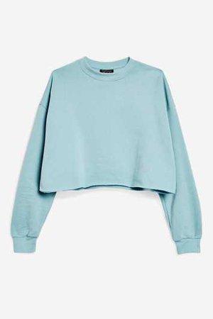 Crop Sweatshirt - Topshop USA