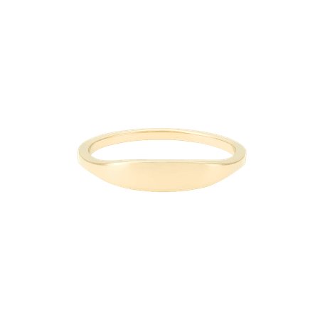 Slim Signet Ring   Mejuri