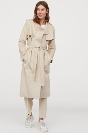 Trenchcoat - Light beige - Ladies | H&M US