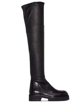 Ann Demeulemeester thigh-high Leather Boots - Farfetch