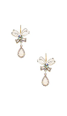 Vanessa Mooney The Bow Tie Earrings in Pearl | REVOLVE