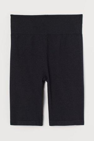 Seamless Biker Shorts - Black