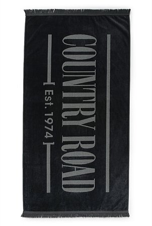 COUNTRY ROAD - LOGO BEACH TOWEL