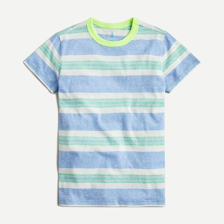 J.Crew: Boys' Short-sleeve T-shirt In Alternating Stripe