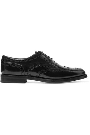 Church's   Burwood glossed-leather brogues   NET-A-PORTER.COM