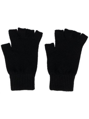 Pringle Of Scotland Fingerless Cashmere Gloves AGH017 Black | Farfetch