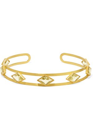 Marie-Hélène de Taillac | Losange 22-karat gold quartz choker | NET-A-PORTER.COM