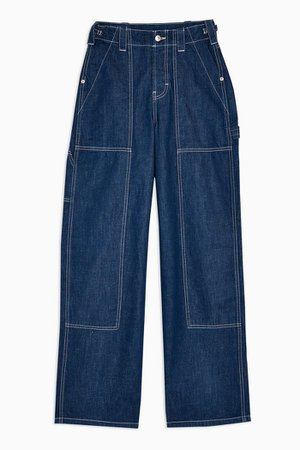 Raw Denim Utility Wide Leg Jeans | Topshop