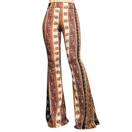 SMT Women's High Waist Wide Leg Long Palazzo Bell Bottom Yoga Pants at Amazon Women's Clothing store: