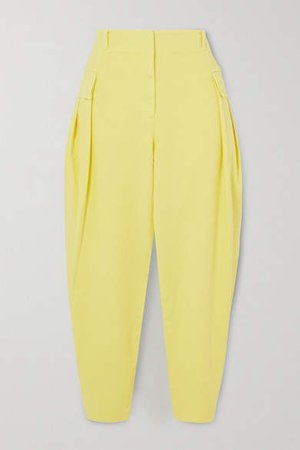 Stretch-cotton Twill Tapered Cargo Pants - Yellow