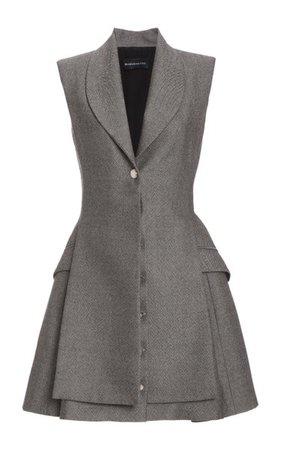 Wool Mini Dress By Brandon Maxwell | Moda Operandi