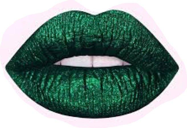 green lip stick