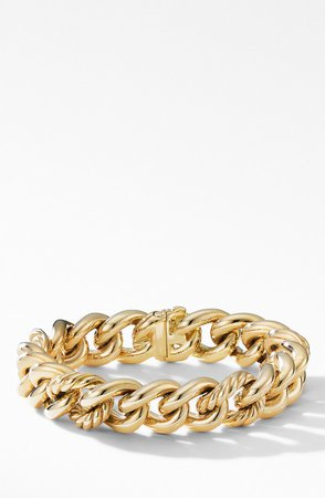 18K Gold Curb Chain Bracelet