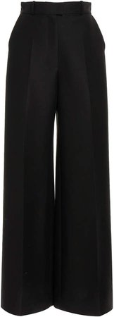 Martin Grant Wool & Silk Wide-Leg Pants