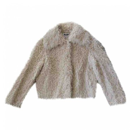 Fw18 faux fur coat Rouje White size 36 FR in Faux fur - 8977854