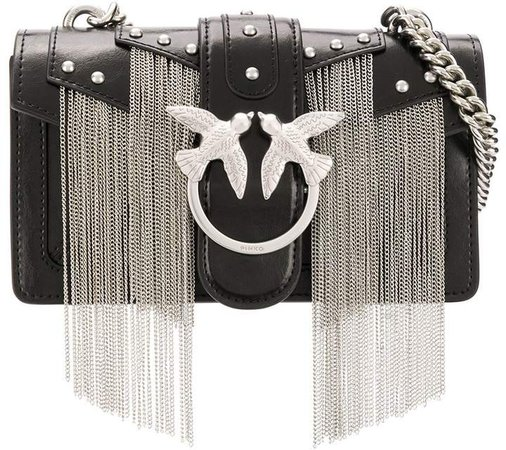 chain fringe cross body bag
