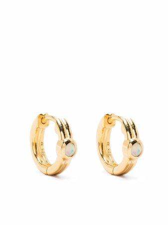 Missoma opalite huggie hoop earrings - FARFETCH
