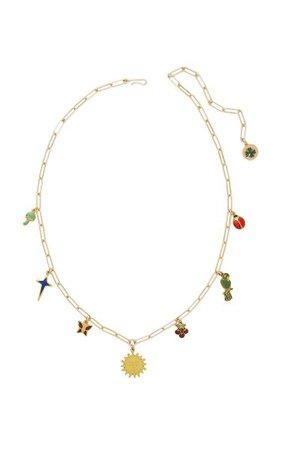 Lucky Charms Gold-Filled Enamel Necklace By Brinker & Eliza | Moda Operandi