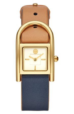 Tory Burch Thayer Leather Strap Watch, 25mm x 39mm | Nordstrom