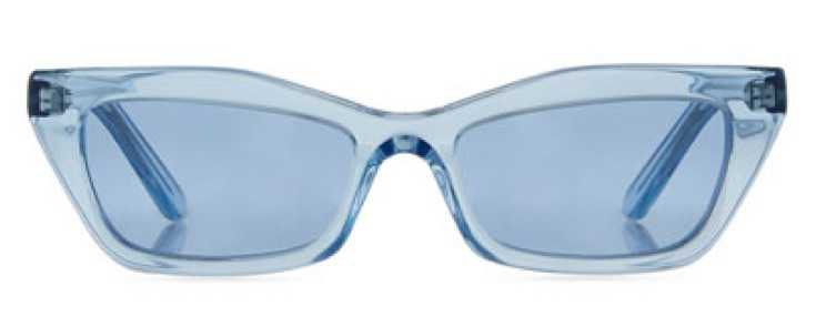 BALENCIAGA Blue Transparent Sunglasses