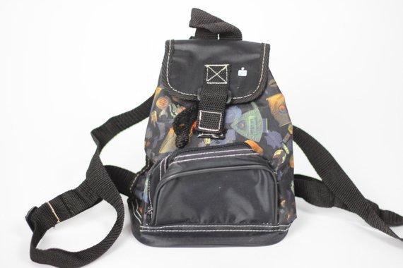 Vintage Black Mini Backpack Little Bag Kids Trash Grunge Goth | Etsy
