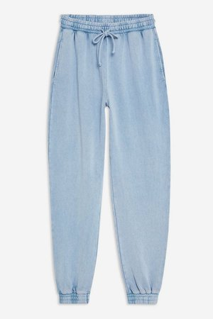 Acid Wash Joggers | Topshop Blue