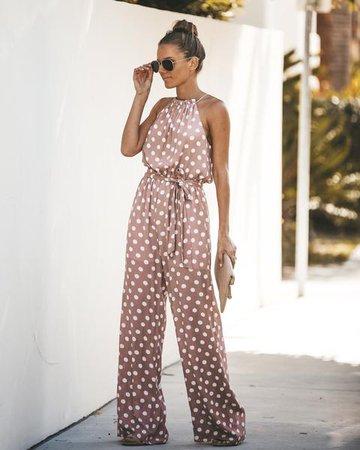 Pretty Little Polka Dot Jumpsuit – VICI