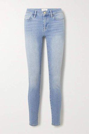 Le Skinny De Jeanne Mid-rise Jeans - Light denim