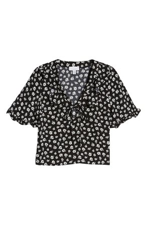 Topshop Maisie Floral Frill Blouse | Nordstrom