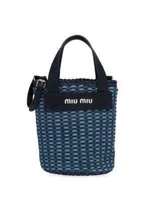 Miu Miu Woven Tote Bag - Farfetch