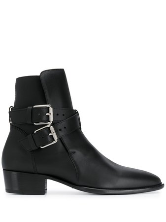 AMIRI Double Buckle Ankle Boots - Farfetch