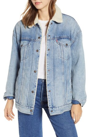 Levi's® Oversize Faux Shearling Lined Trucker Jacket | Nordstrom