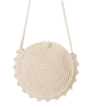 ONE & ONLY Ivory Round Crochet Bag < NEW | aesthet.com