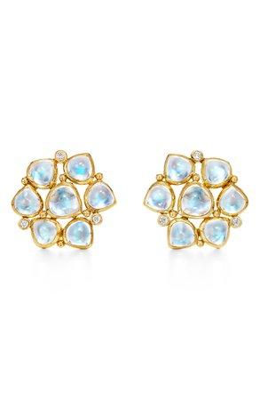 Temple St. Clair 18K Moonstone & Diamond Cluster Earrings | Nordstrom