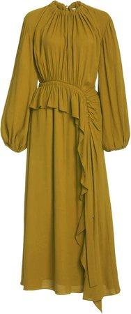 Ulla Johnson Odette Ruffled Crepe De Chine Dress