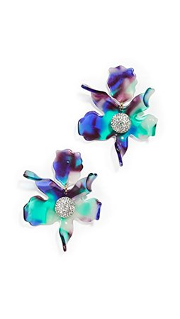 Lele Sadoughi Crystal Lily Earrings | SHOPBOP