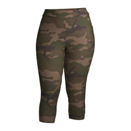 Terra & Sky Women's Plus Size Soft Sueded Capri Leggings