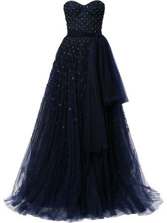 Carolina Herrera, bead-embellished Strapless Gown