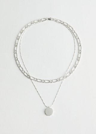 Pendant Multi Chain Necklace - Silver - Necklaces - & Other Stories WW